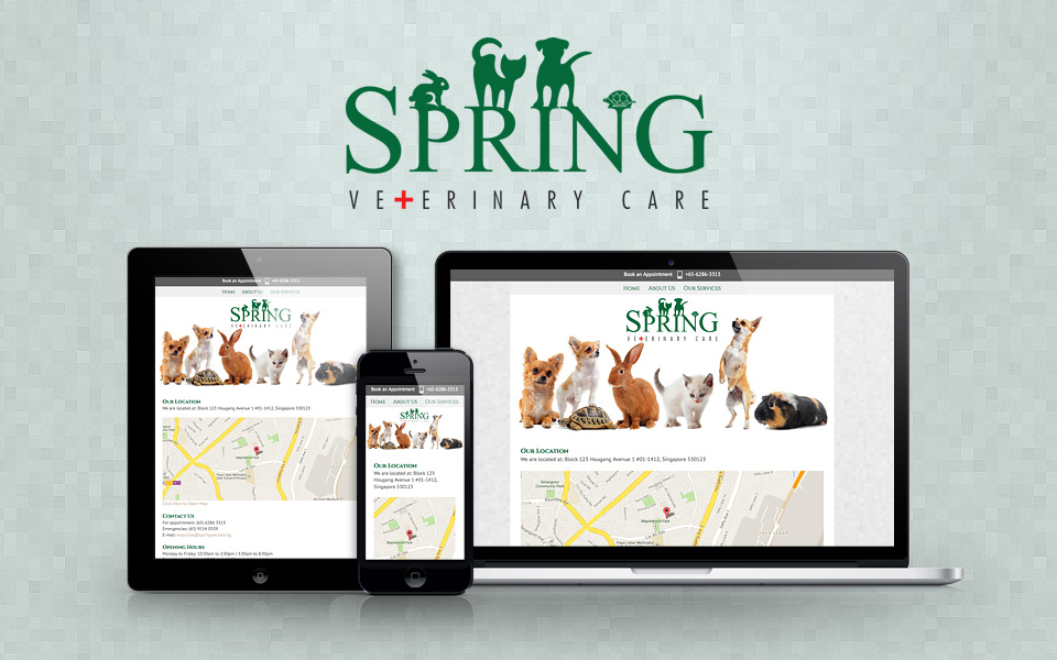 Responsive Website Design: Spring Veterinary